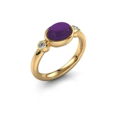 Ring Liane 585 goud amethist 8x6 mm