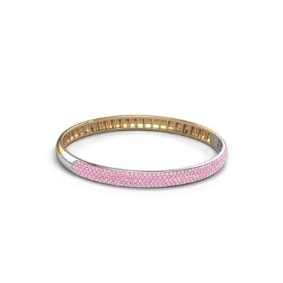 Armband Emely 6mm 585 goud roze saffier 1.2 mm