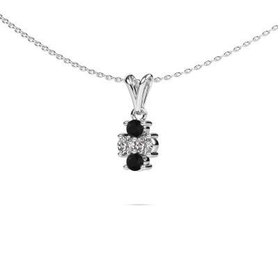 Foto van Ketting Richelle 950 platina zwarte diamant 0.44 crt