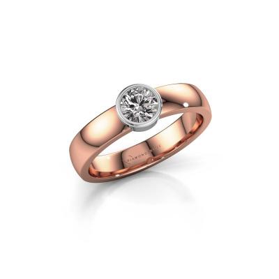 Foto van Ring Ise 1 585 rosé goud zirkonia 4.7 mm