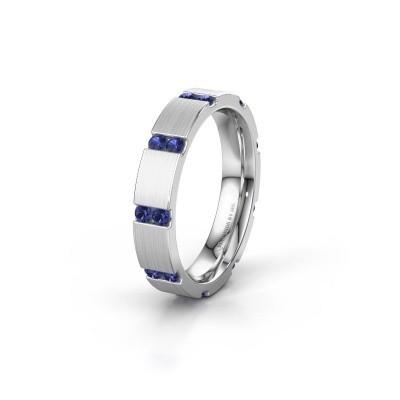 Bague de mariage WH2132L14BM 950 platine saphir ±4x2.2 mm
