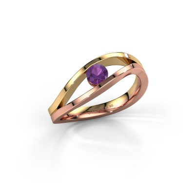 Picture of Ring Sigrid 1 585 rose gold amethyst 4 mm