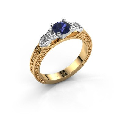Engagement ring Gillian 585 gold sapphire 5 mm