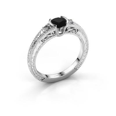 Foto van Verlovingsring Anamaria 585 witgoud zwarte diamant 0.69 crt