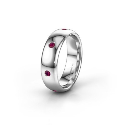 Wedding ring WH0105L36BP 950 platinum rhodolite ±0.24x0.08 in