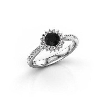 Engagement ring Tilly RND 2 925 silver black diamond 0.60 crt