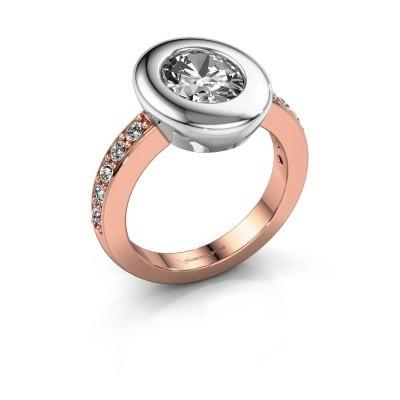 Foto van Ring Selene 2 585 rosé goud diamant 1.80 crt
