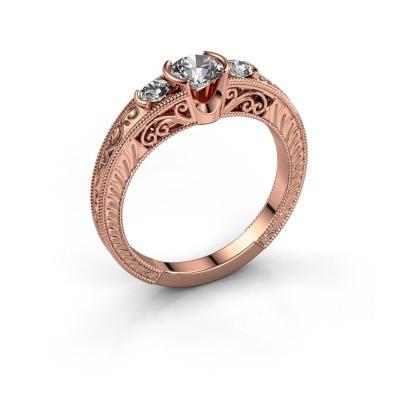 Foto van Promise ring Tasia 375 rosé goud diamant 0.70 crt
