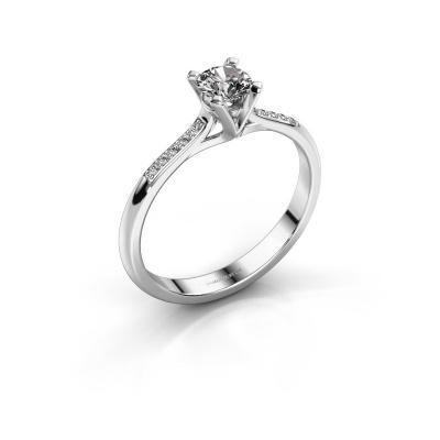 Picture of Engagement ring Isa 2 950 platinum zirconia 4.2 mm