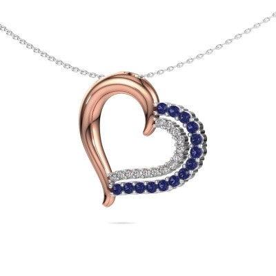 Necklace Kandace 585 rose gold sapphire 1.9 mm