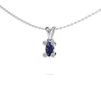 Picture of Necklace Cornelia Marquis 950 platinum sapphire 7x3 mm