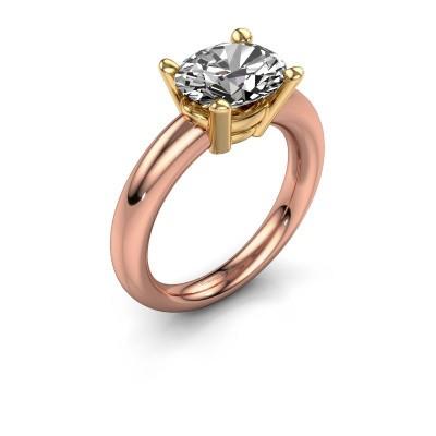 Ring Janiece 585 rosé goud diamant 2.70 crt