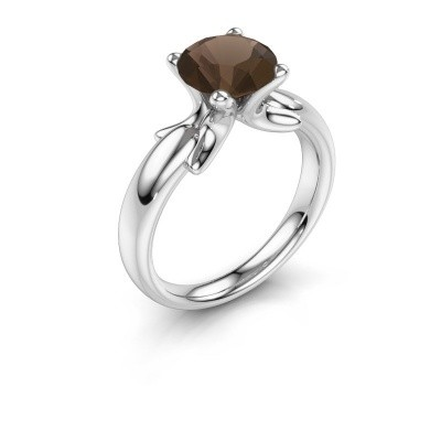Ring Jodie 925 silver smokey quartz 8 mm