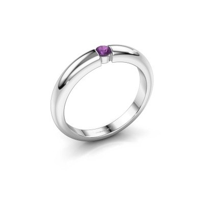Picture of Engagement ring Amelia 585 white gold amethyst 3 mm