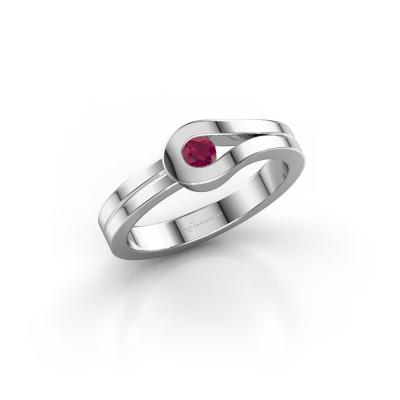 Ring Kiki 925 silver rhodolite 3 mm