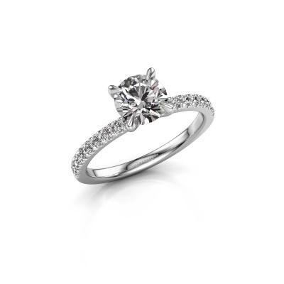 Picture of Engagement ring Crystal rnd 2 585 white gold diamond 1.24 crt
