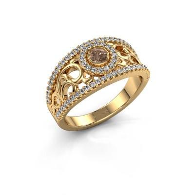 Foto van Ring Lavona 585 goud bruine diamant 0.50 crt