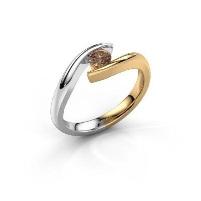 Foto van Aanzoeksring Alaina 585 goud bruine diamant 0.25 crt