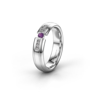 Wedding ring WH2128L26C 950 platinum amethyst ±5x2 mm