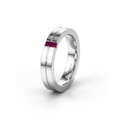Wedding ring WH0225L14B 950 platinum rhodolite ±0.16x0.08 in