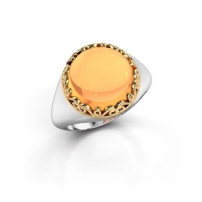 Foto van Ring Birgit 585 witgoud citrien 12 mm