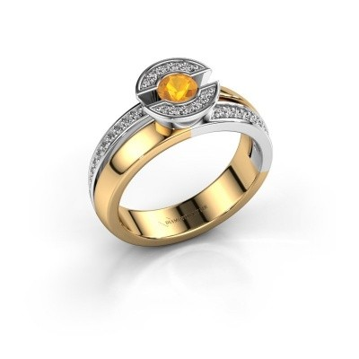 Ring Jeanet 2 585 gold citrin 4 mm