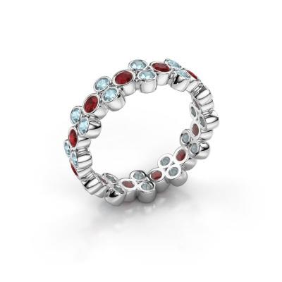 Ring Victoria 925 Silber Rubin 2.4 mm
