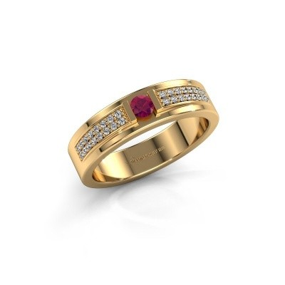 Ring Chanell 375 goud rhodoliet 3 mm