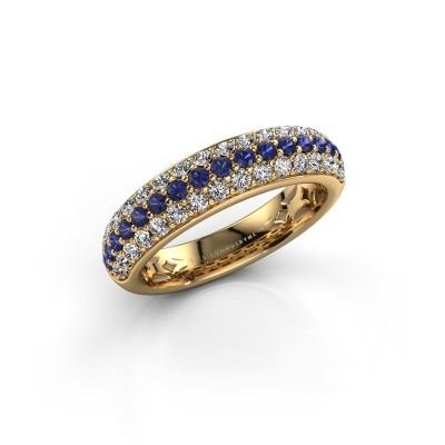 Foto van Ring Emely 6 375 goud saffier 1.7 mm