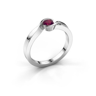 Foto van Ring Lola 585 witgoud rhodoliet 4 mm
