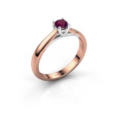 Foto van Verlovingsring Mia 1 585 rosé goud rhodoliet 4 mm