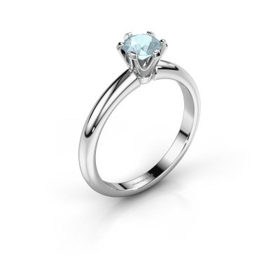 Picture of Engagement ring Tiffy 1 585 white gold aquamarine 5 mm