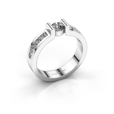 Verlovingsring Isabel 2 585 witgoud diamant 0.25 crt