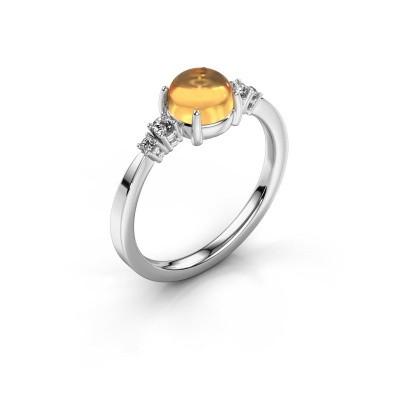 Ring Regine 950 platinum citrin 6 mm