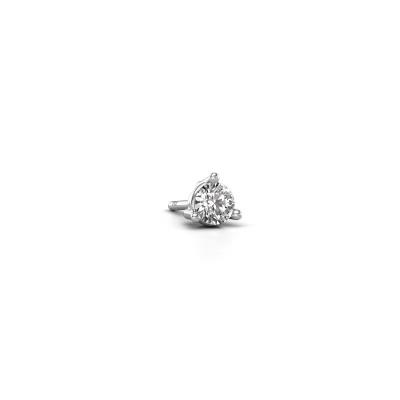 Photo de Boucle d'oreille homme Jorn 585 or blanc diamant 0.30 crt