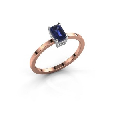 Picture of Engagement ring Denita 1 585 rose gold sapphire 6x4 mm