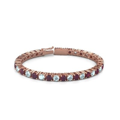 Tennisarmband Ming 375 rosé goud rhodoliet 5 mm