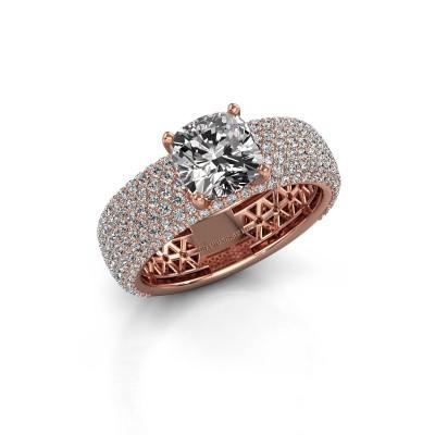Engagement ring Darcy 375 rose gold diamond 4.07 crt
