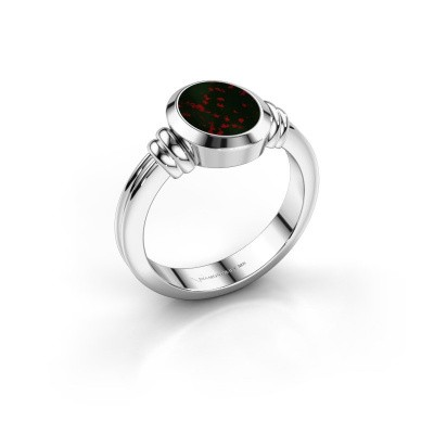 Picture of Signet ring Brenda 1 950 platinum bloodstone 10x8 mm