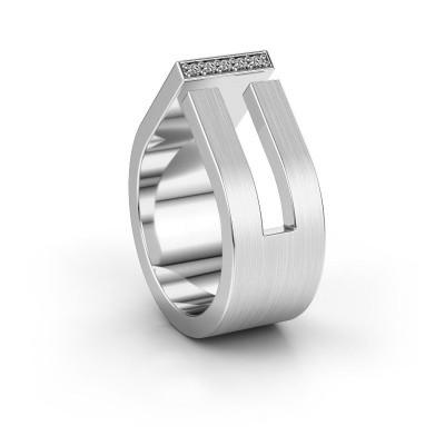 Huwelijksring WH2090L19C 585 witgoud diamant ±10x2.2 mm