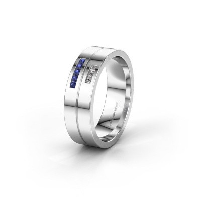 Wedding ring WH0207L16AP 925 silver sapphire ±0.24x0.07 in