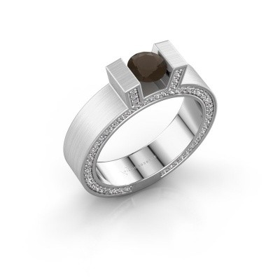 Picture of Ring Leena 2 585 white gold smokey quartz 5 mm