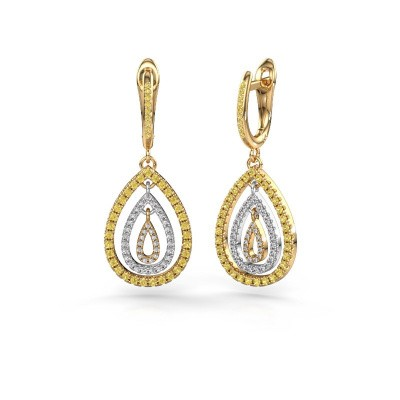 Picture of Drop earrings Marietta 2 585 gold yellow sapphire 0.9 mm