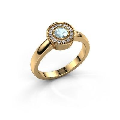 Ring Adriana 1 585 goud aquamarijn 4 mm