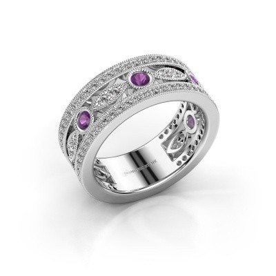 Picture of Ring Jessica 925 silver amethyst 2.5 mm