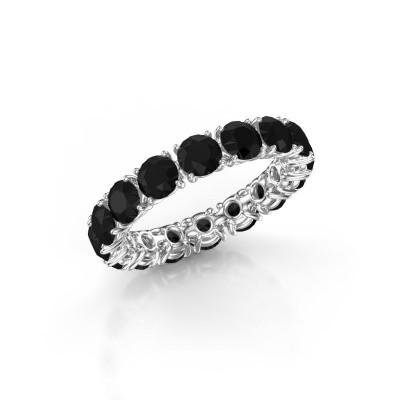 Foto van Aanschuifring Vivienne 4.0 950 platina zwarte diamant 4.80 crt