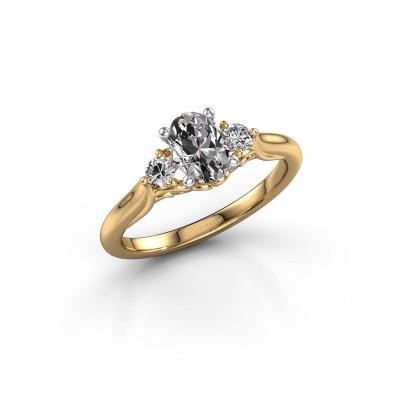 Foto van Verlovingsring Laurian OVL 585 goud diamant 1.20 crt
