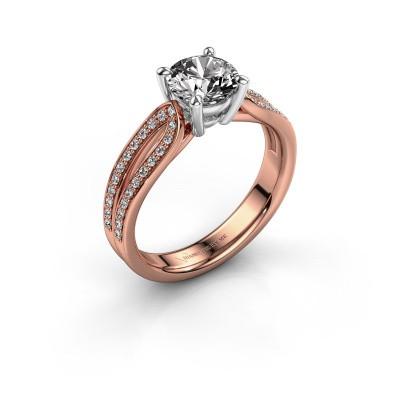 Verlovingsring Antonia 2 585 rosé goud diamant 1.308 crt