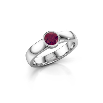 Ring Ise 1 925 silver rhodolite 4.7 mm