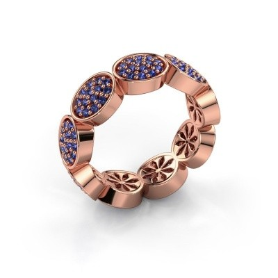 Ring Robin 375 rosé goud saffier 1.2 mm